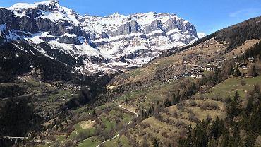 Panorama Albinen w Szwajcarii