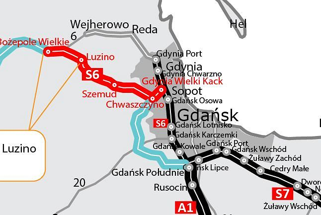 Trasa S6, Bożepole Wielkie - Luzino