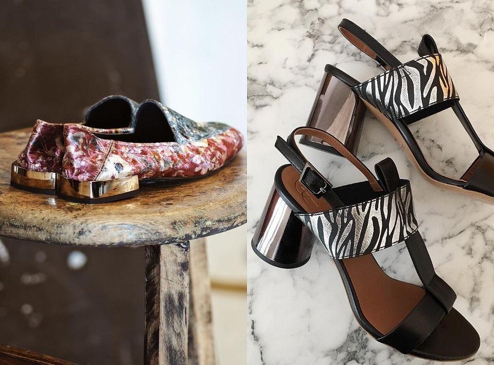 Buty na metalicznym obcasie