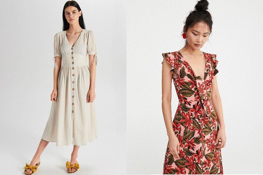 sukienki z lnem