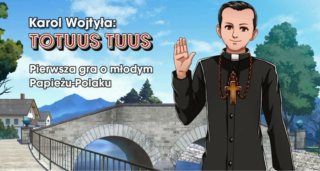 Kadr z zapowiedzi soundtracku do gry 'Karol Wojtyła: Totus Tuus'