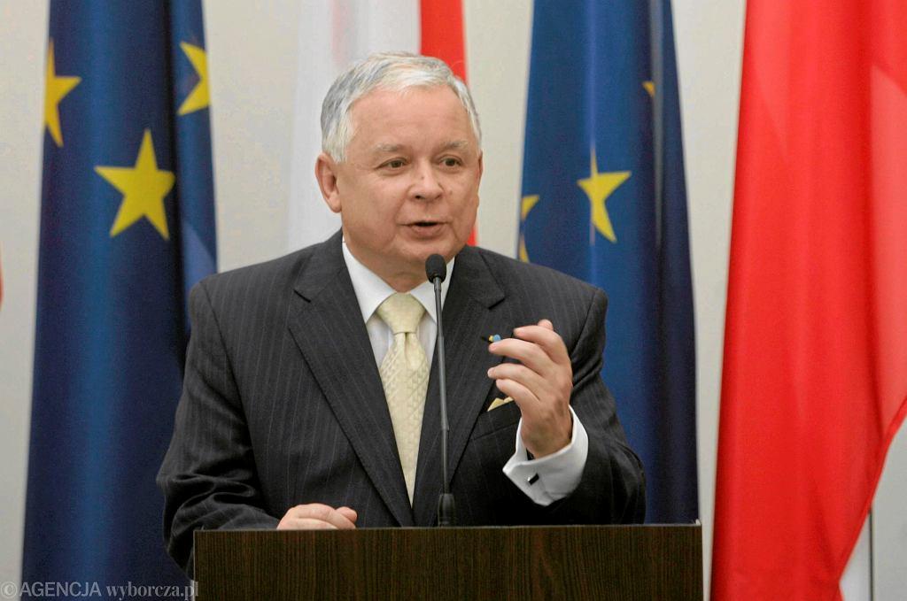 Prezydent Lech Kaczyński w 2009 roku