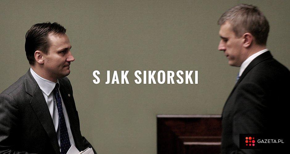 Radosław Sikorski i Roman Giertych