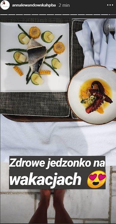 Anna Lewandowska pokazała co je na wakacjach