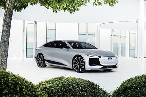 Elektryczne Audi A6 e-tron. Ma reflektory-projektory i odblaskowy lakier