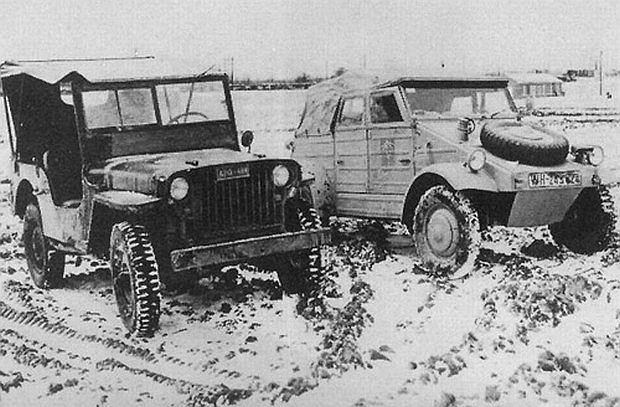 Niezła konfrontacja - jeep willys vs. Volkswagen Kübelwagen