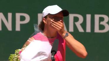 Iga Świątek zaskoczona niespodzianką od organizatorów Roland Garros