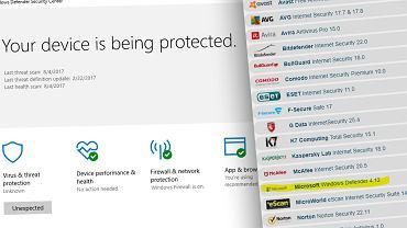 Windows Defender wyżej w rankingu AV-TEST. Ale do liderów wciąż sporo mu brakuje