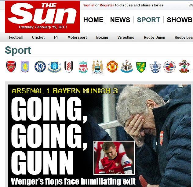 Screen z serwisu dziennika 'The Sun'