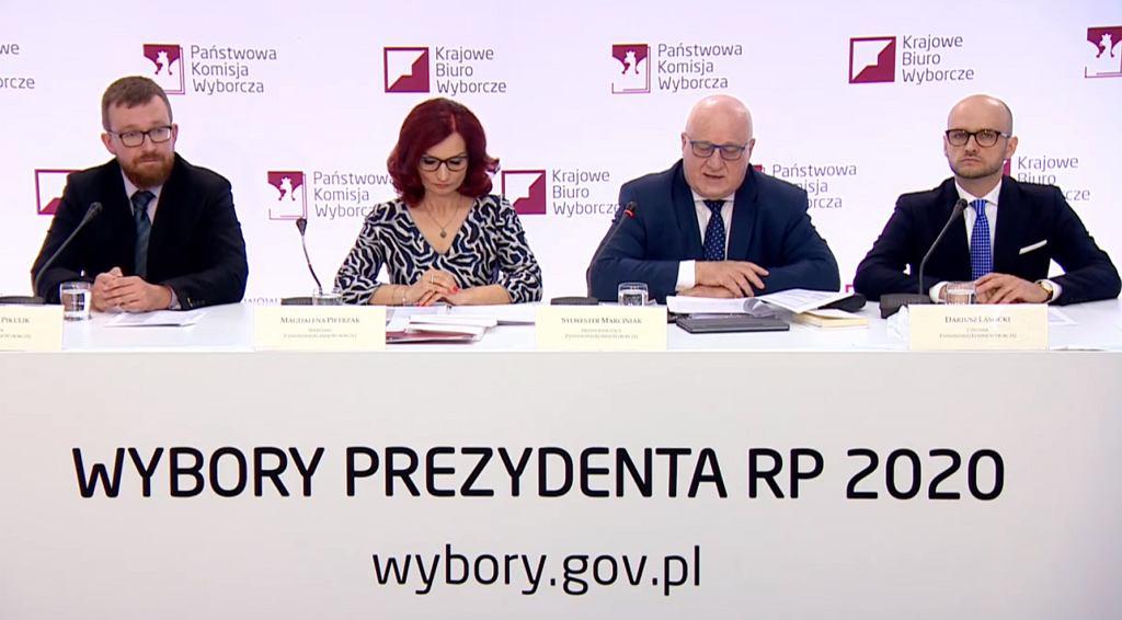 Państwowa Komisja Wyborcza - konferencja 12 lipca.