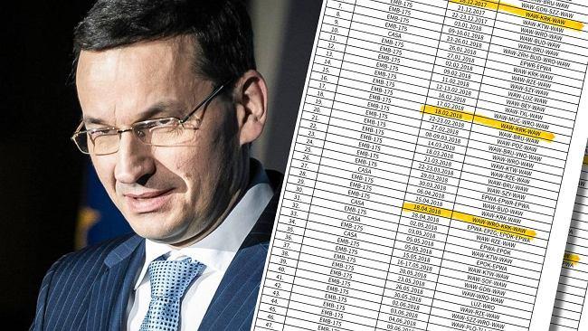 207 lotów premiera Morawieckiego. 18 do Krakowa. Daty pokrywają się z miesięcznicami smoleńskimi