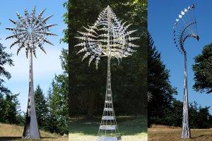 Hipnotyzujące rzeźby amerykańskiego artysty. Wykorzystują wiatr, aby samodzielnie się poruszać