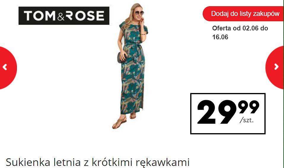 Sukienka maxi Biedronka