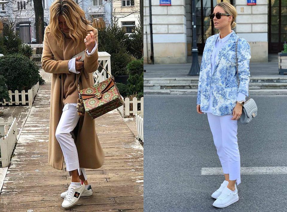 MRM w białych sneakersach