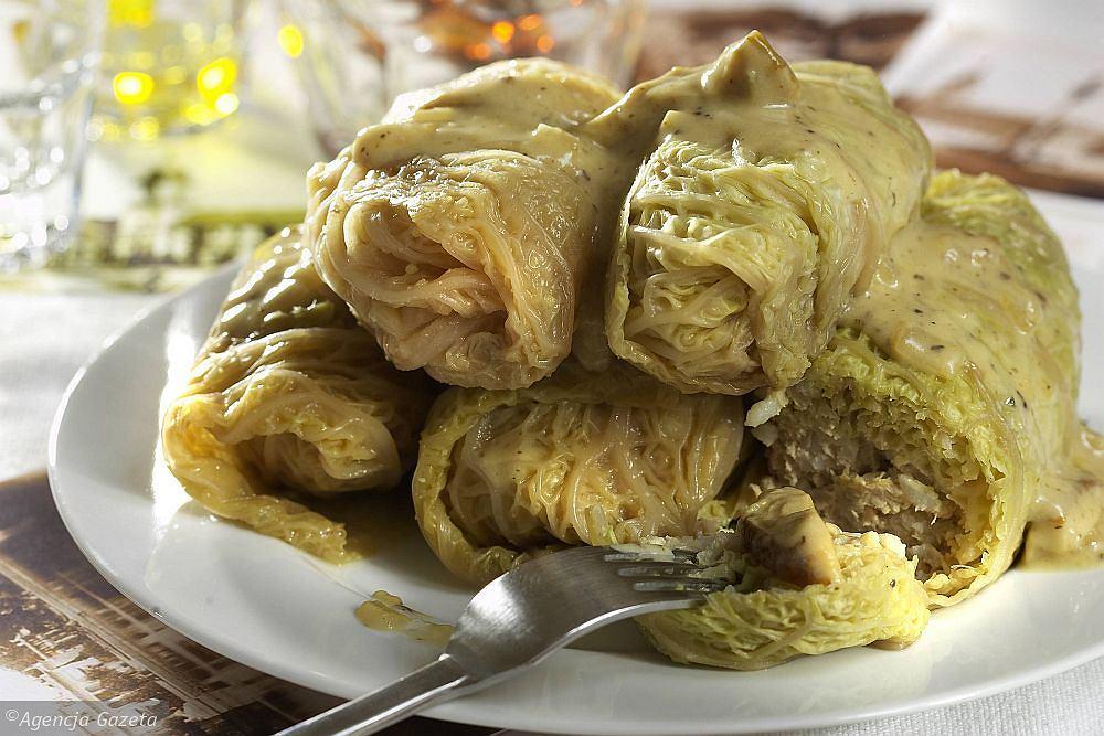 Gołąbki z cielęciną w sosie grzybowym