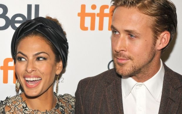 Ryan Gosling, Bradley Cooper and Eva Mendes at '