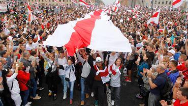 Niedzielne protesty w Mińsku.