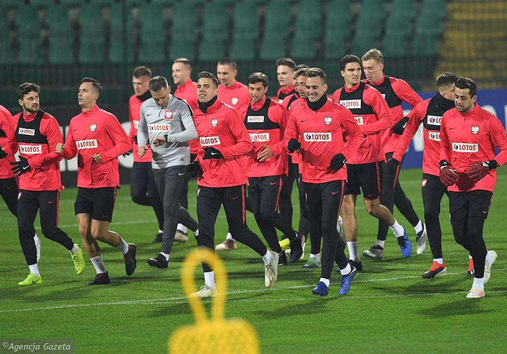 Trening reprezentacji Polski na stadionie miejskim w Gdańsku