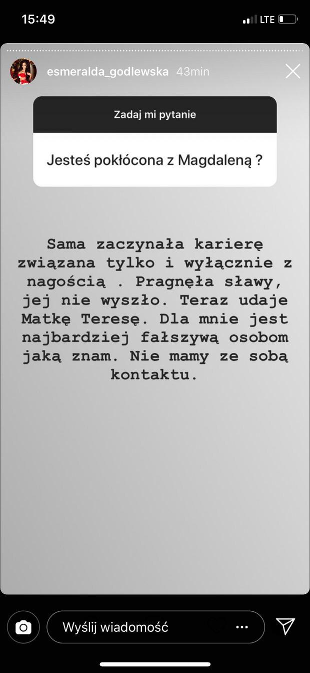 Esmeralda Godlewska o Magdalenie Godlewskiej