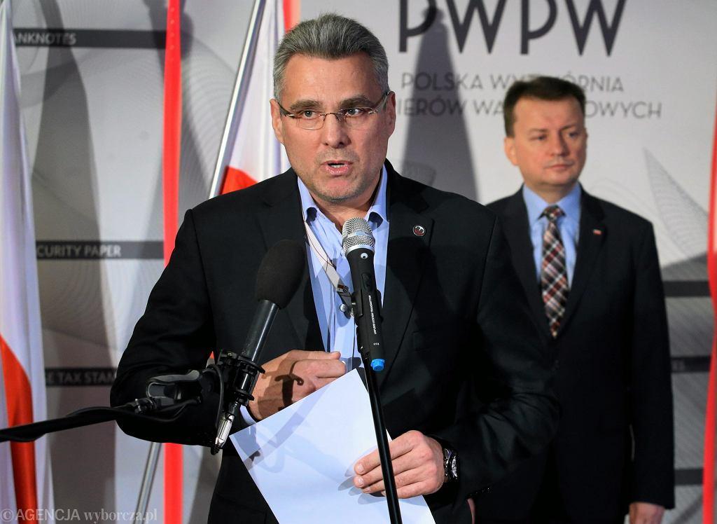 Prezes Polskiej Wytwórni Papierów Wartościowych Piotr Woyciechowski
