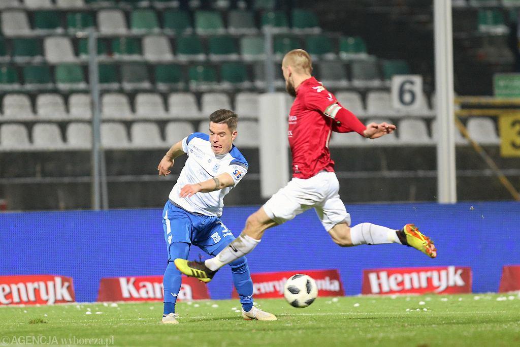Marcin Wasielewski w meczu z Zagłębiem Sosnowiec