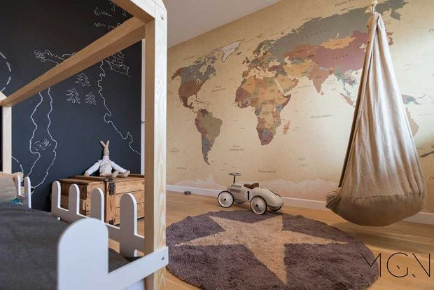 Pokój dziecięcy z mapą