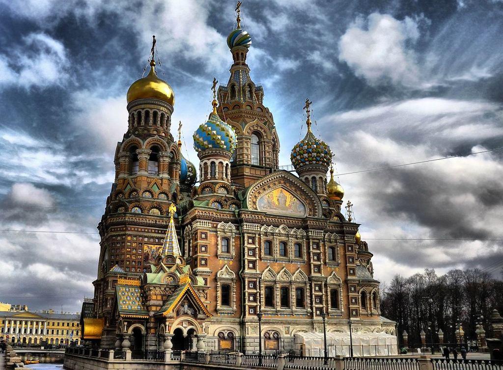 Petersburg Rosja - Cerkiew Zbawiciela na Krwi