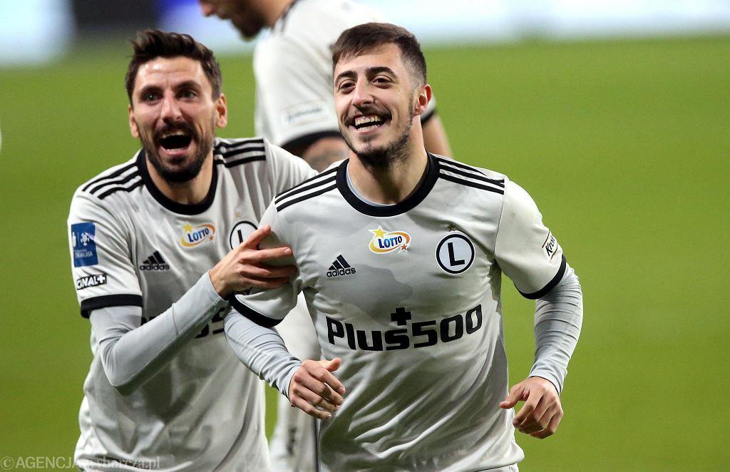Filip Mladenović i Josip Juranović, piłkarze Legii Warszawa