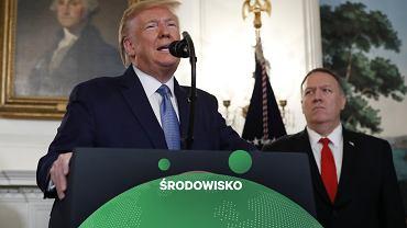Prezydent Donald Trump i sekretarz stanu Mike Pompeo