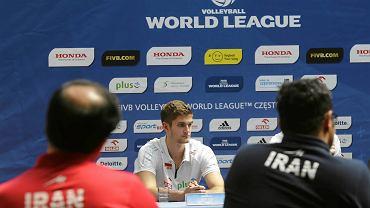 Częstochowa, konferencja prasowa przed meczami Polska - Iran