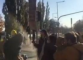 Protest matek z dziećmi przy ul. Nowogrodzkiej