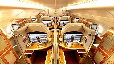 Klasa biznes na pokładzie Emirates
