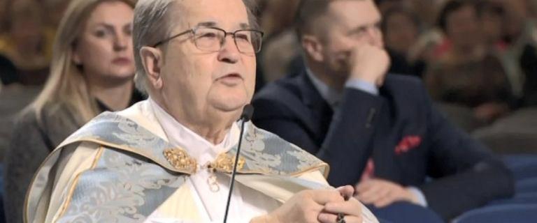 """Rydzyk skarcił wiernych w czasie urodzin Radia Maryja. """"Proszę o ciszę!"""""""