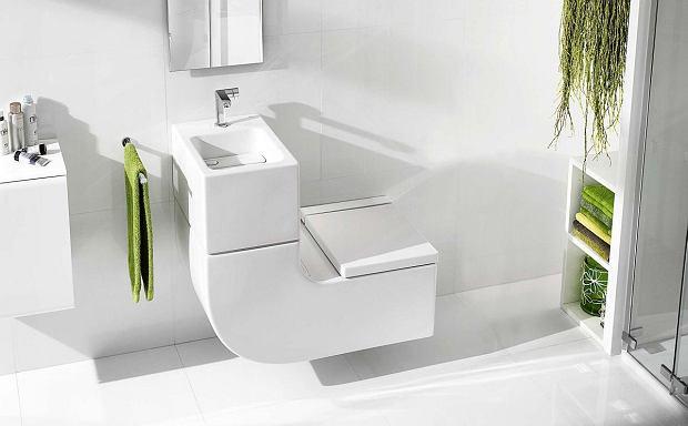 W + W, umywalka zintegrowana z sedesem, ceramika, zestaw podwieszany, system spłukiwania 3/6 l, na zamówienie