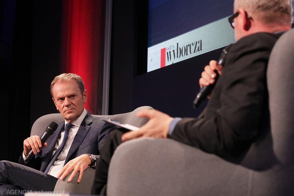 Donald Tusk podczas premiery książki pt. 'Szczerze'