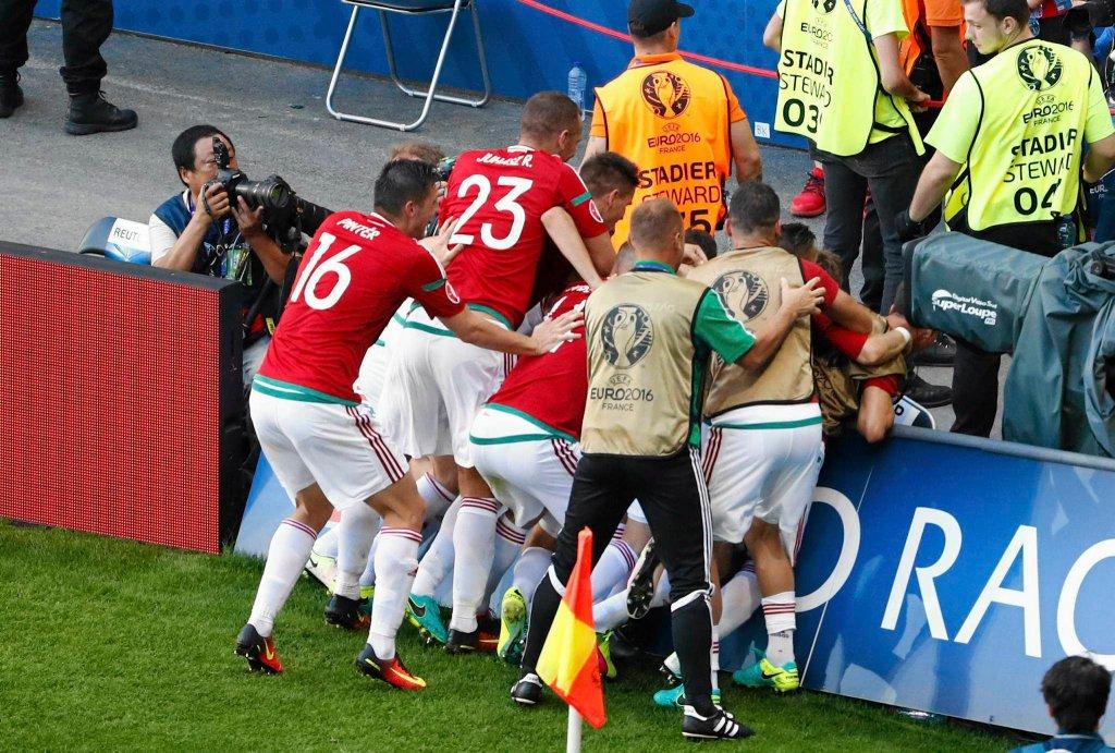 Euro 2016. Węgry - Portugalia. Balazs Dzsudzsak i radość Węgrów