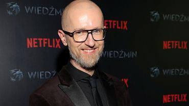 Tomasz Bagiński na premierze 'Wiedźmina' w Warszawie