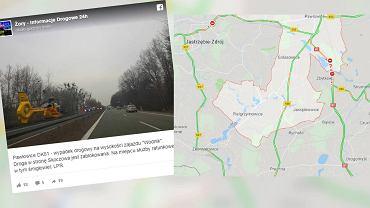 Wypadek na DK81 w Pawłowicach. Nie żyje jedna osoba. Droga w kierunku Skoczowa zablokowana