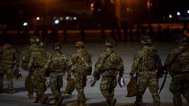 Amerykańscy żołnierze w drodze do Iraku