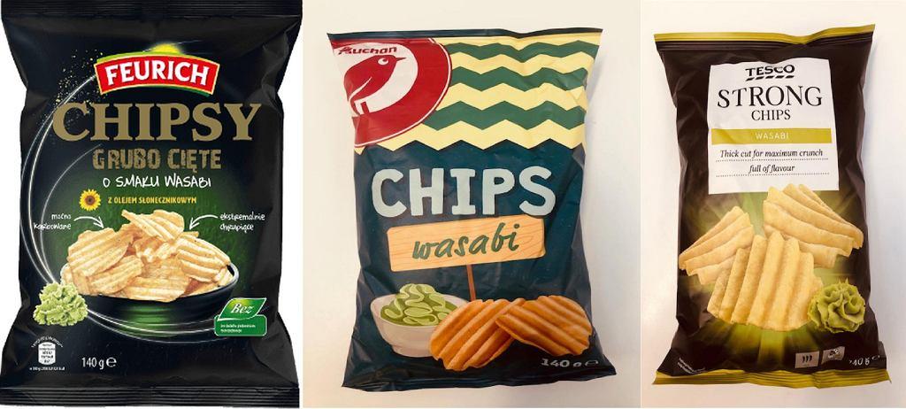 Chipsy wasabi wycofane przez obecność gorczycy