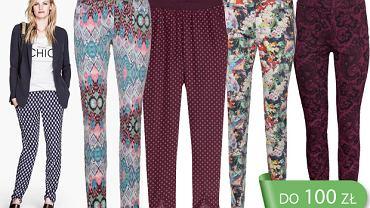 HIT: spodnie we wzory do 100 zł