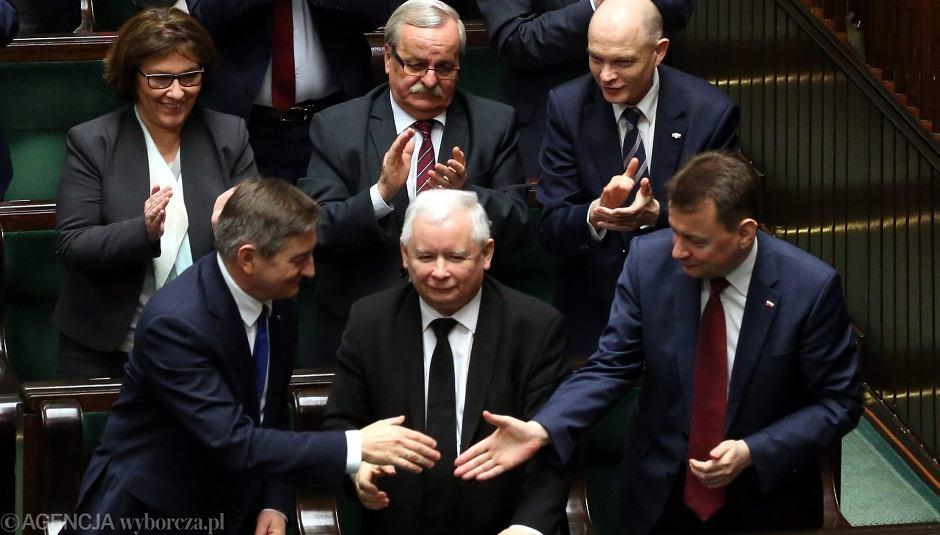Jarosław Kaczyński, Marek Kuchciński i Mariusz Błaszczak