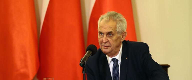 """Czechy. Prezydent Miloš Zeman """"niezdolny do pełnienia obowiązków"""""""