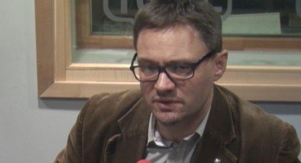 Paweł Wroński w studiu TOK FM