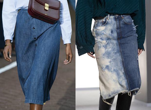 pokazy, inspiracje jeans