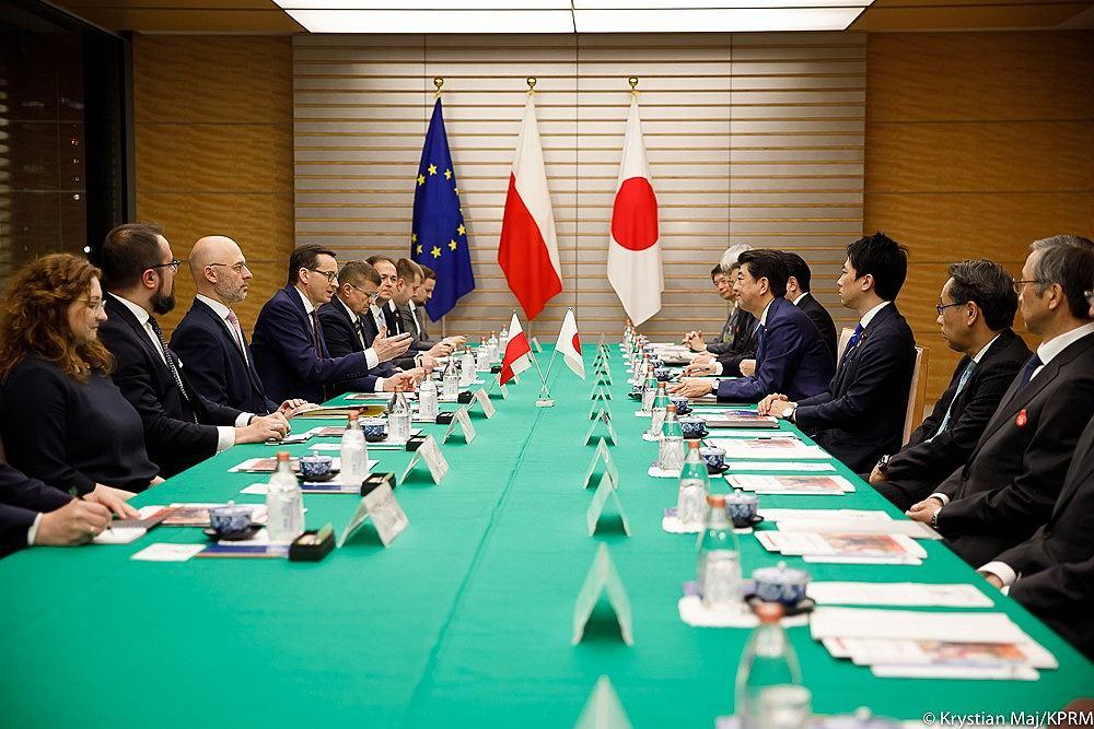 Rozmowy polskiej delegacji w Japonii