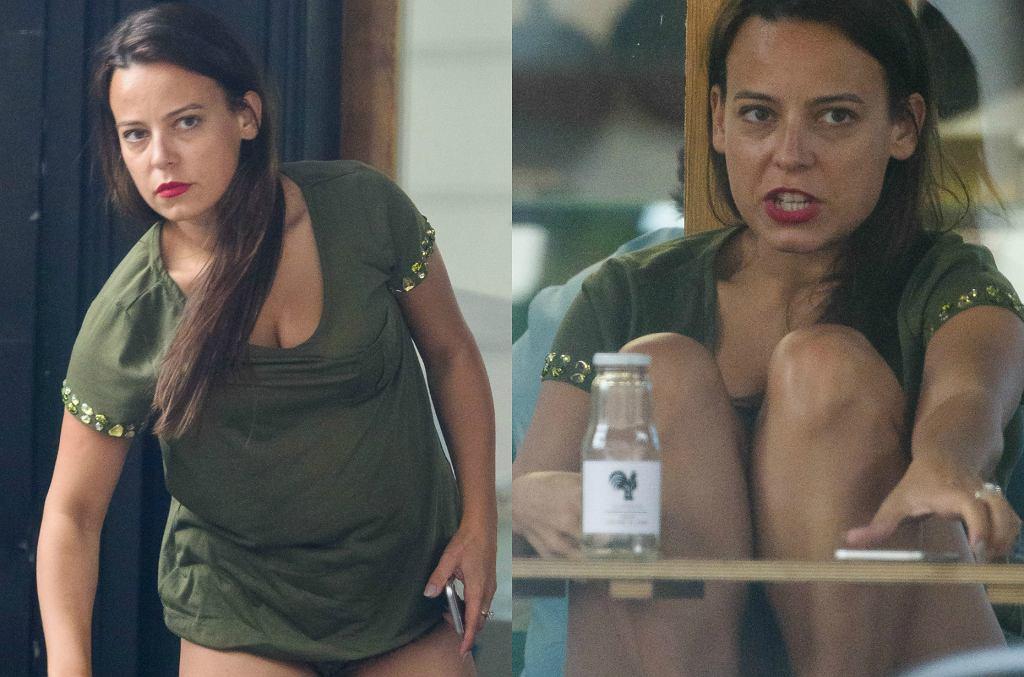Styl Anny Muchy nawet na niezobowiązujących spotkaniach jest bardzo kobiecy. Seksowne szorty, które wyeksponują pośladki i nogi? Czemu nie!