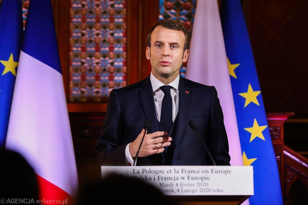4.02.2020, Kraków, wykład Emmanuela Macrona na Uniwersytecie Jagiellońskim.