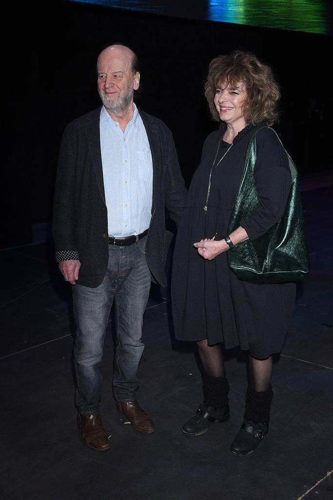 Katarzyna Grochola z mężem
