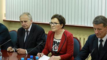 Ewa Kopacz podczas wizyty w Łodzi